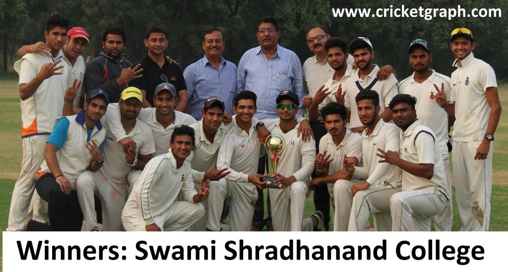 Swami Shradhanand College win DU Inter College Tournament 2015-16; beats Aryabhatta College to claim Hat-trick of titles