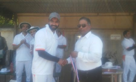 Man of the Match: Sagar Patil of Barclays Bank (22 runs and 4 wickets)