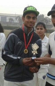 Best player of the Series Ankit From Young Srikers Team