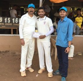 Man of the match: Vishweshaver Singh with Weatherford's Chetan Dighe (left) and Beyond Infinity's COO Piyush Rai (right)