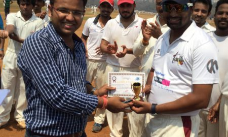 Man of the Match: Amul More (4-12 in 4 overs) of Axis Bank