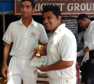 Man of the Match: Alok Shastri (5-11 in 4 overs)