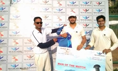 Man of the Match: Chaitanya (55 runs off 29 balls), mumbai