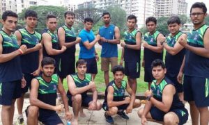 Pravin Tambe with his army at P.T Academy, Mulund