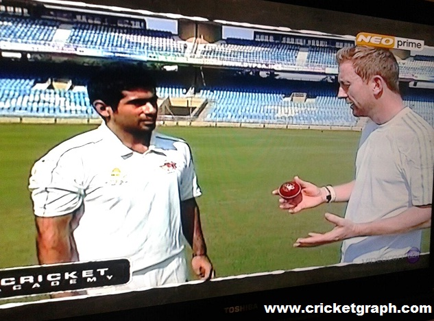 Rajiv Mehra with Paul Collingwood on Neo Sports Channel