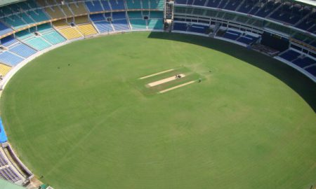 This picture taken on November 6, 2010 shows a general view of the VCA Stadium Jamtha, in Nagpur. AFP PHOTO / NAVIN VARMA (Photo credit should read STRDEL/AFP/Getty Images)