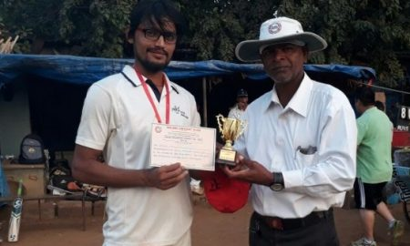 Man of the Match Armaan Khan (Asiatic Engineering Team) 35 runs and 3 wkts