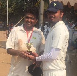 Man of the Match Vikas sharma (Idea Team) 92 runs in 55 balls and 1 wicket