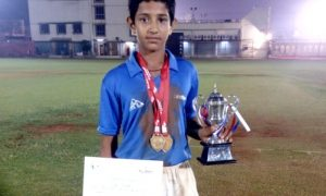 Owais Khan (Lord Northbook Team) Man of the Match in Final and Best Batsman of Tournamentq