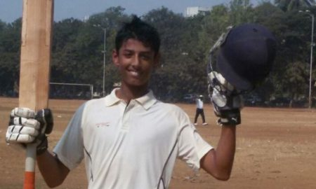 Suryansh Shedge (Gundecha Education Academy School Team) 326 Runs in 137 Balls 54 Fours and 3 Sixes