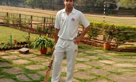 Bhupen Lalwani (Dadar Union Sporting Club Team) 117 runs in 115 balls 12 fours and 2 sixes