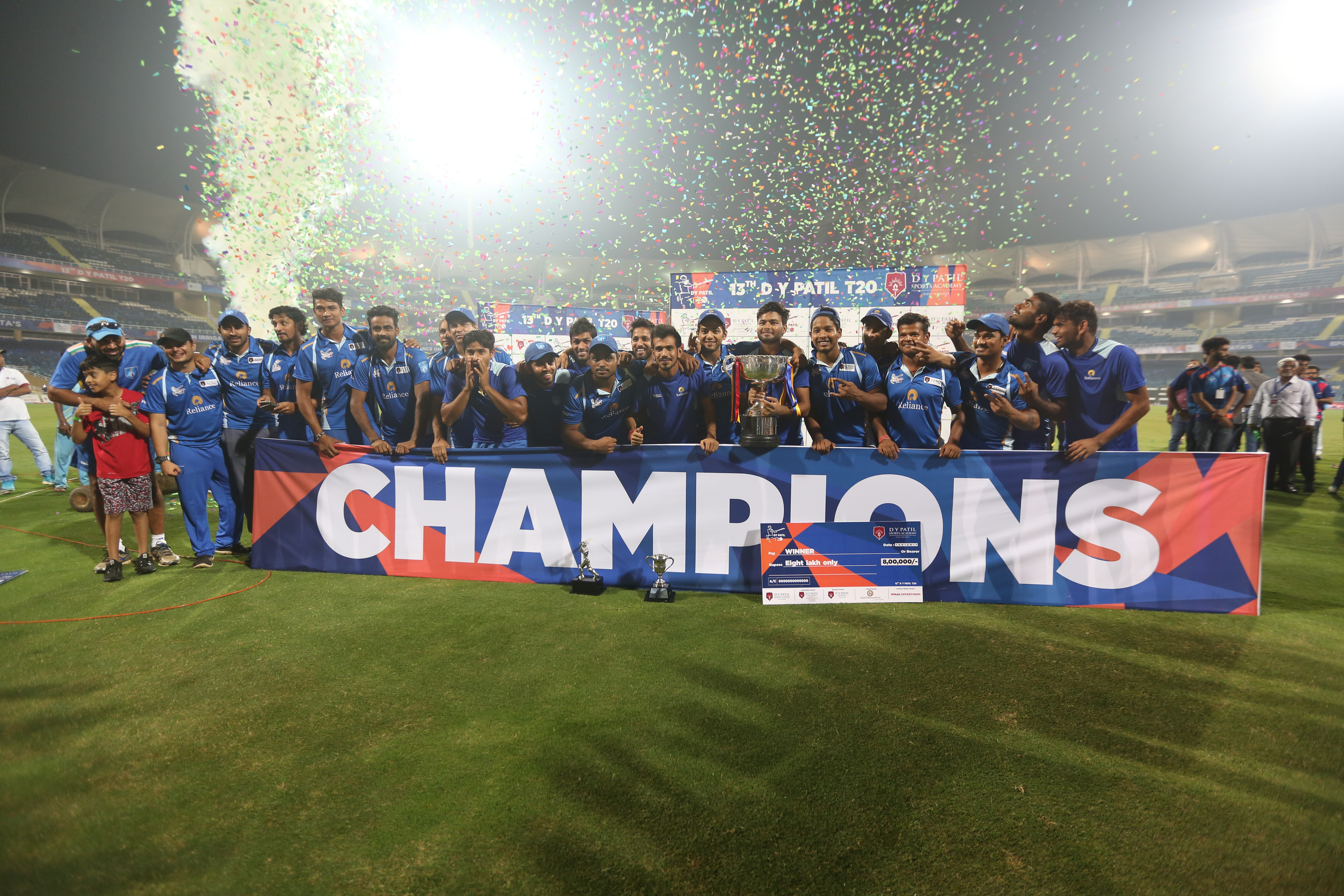 13th DY Patil Cup 2017 -Winner Team Reliance 1 Team