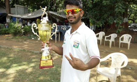 Ishaque Shaikh (JSW Team) 4 wkts and 45 runs in 56 balls 6 fours