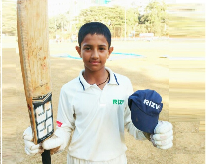 Owais Khan (Rizvi School U-14 Team) 139 Runs of just 116 balls