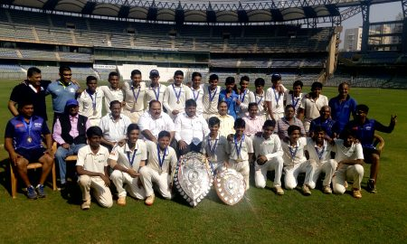 Rizvi Springfield School Team Winning Inter School Harris Shield Under 16 Boys Cricket Tournament 2016