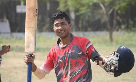 Samrat Nakhwa (Sankalpan Team) Man of the match 50 runs in 45 balls 7 fours