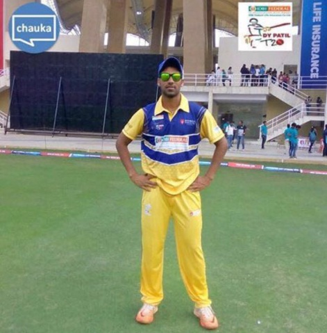 Shashank Singh (DY Patil B Team) 70 runs in 40 balls 5 fours and 4 sixes and 1 wkt