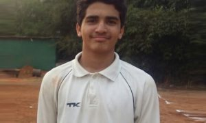 Vinayak Kunwar (Yashodham School Team under16) 120 runs and 5 wkts