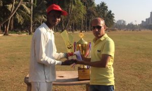 Aakash Patil (Rika Global Team) Man of the match & Best Batsman in the Tournament