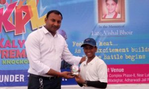 Devesh Mahadik (Salgaonkar Cricket Academy Team) 52 runs in 35 balls 10 fours