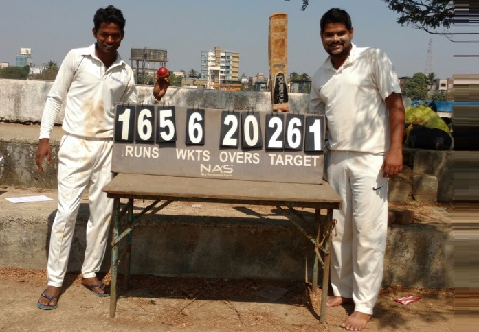 (From Left Side) Ganesh 54 runs and (From Right Side) Tejas 103 runs (From TC Challengers Team)