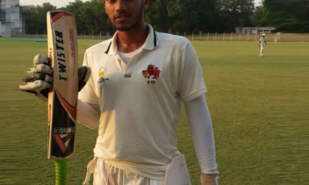Khizar Dafedar ( Indian Oil Sports Club Team) 220 runs in 315 balls 30 fours and 4 sixes and 3 wkts