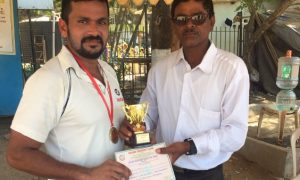 Man of the match - Rugved Chaudhary (Kotak Team) Not out 81 runs in 47 balls 14 fours