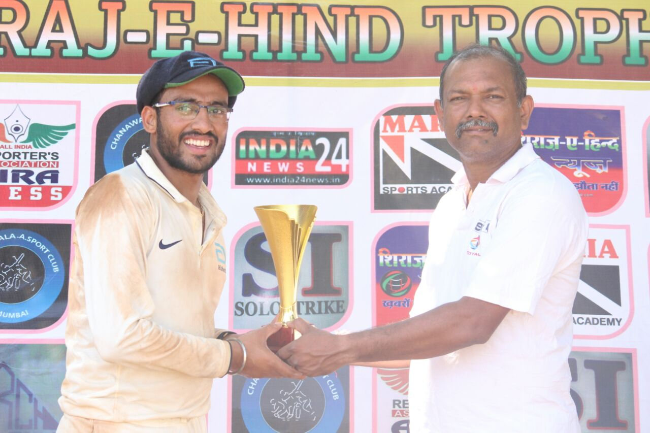 Nilesh Gadekar (Abbott Healthcare Team) Not out 110 runs in 68 balls 16 fours and 1 sixes
