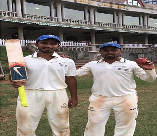 SANKET JADHAV & VISHWANATH PARMAR steer Mafatlal c.c to a finals win in the Times Shield