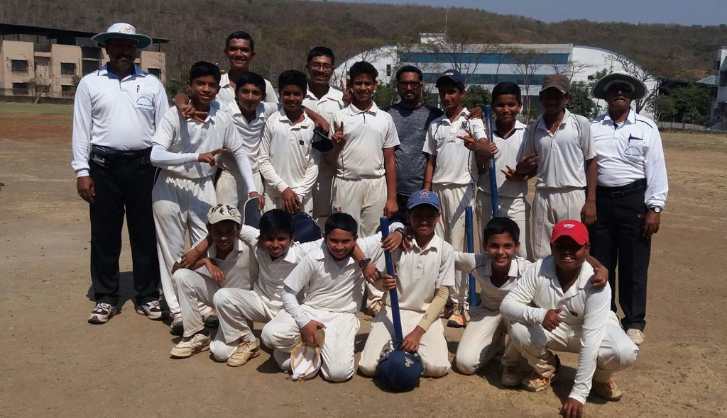 Ghantali Inter School Under 14 Cricket Tournament in Thane Winner Team - KC Gandhi School Under 14 Team