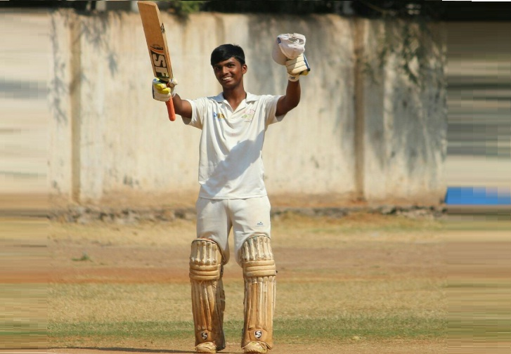 Pranav Dhanawade (Modern Cricket Club Team) 50 runs in 55 balls 6 fours and 1 Six