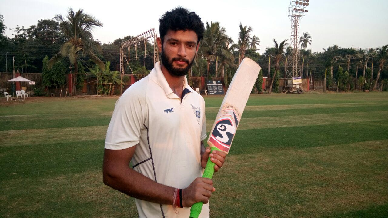 Shubham Dubey (DY Patil Team) Not out 61 runs in 35 balls 4 fours and 5 sixes and took 4 wkts