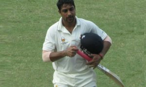 Shubham Ranjane (DY Patil Team) 115 runs in 140 balls 11 fours and 1 six