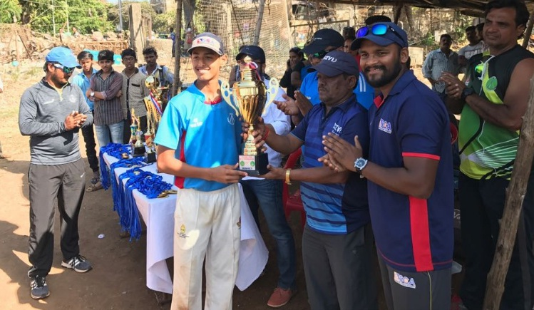 Suryansh Shedge (Sanjeevani Cricket Club Team) Best Batsman & Man of the Series of the Tournament 379 runs and 4 wkts