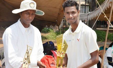 Talented Akash Patil takes 6wkts and scores a 40 ball 83 all in the same match to win the finals of the Masters Cup