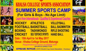 KHALSA COLLEGE SPORTS SUMMER CAMP 2017