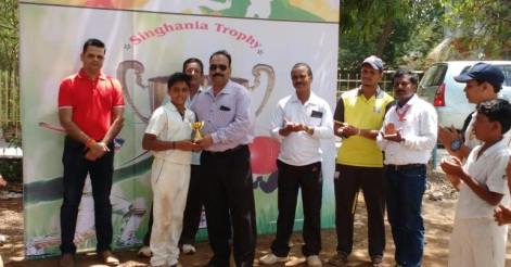 A good team perfomance ensures a victory for Singhania School in the 1st league clash of the Singhania U-14 Tournament