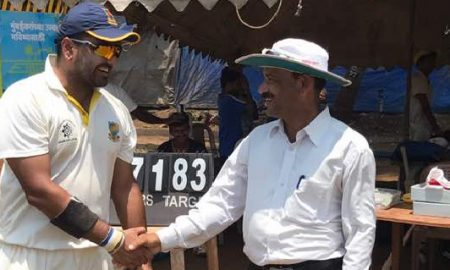 All-rounder Aditya Singh again comes to the rescue as he scores a quick 54 & takes 2wkts vs Indiacast In the Masters Cup