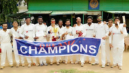 Datamatics beats Common Man India (C.M.I) In the Finals of the Dreamz Corporate T20 cup