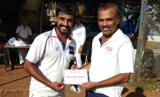 All-round perfomance by Kshitij Iyengar helps Morgan Stanley win comfortably in the Dreamz T20 Tournament