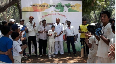 Aarush and Anirudh take 7wkts together lead Billabong School to a win in the Singhania U-16 Tournament