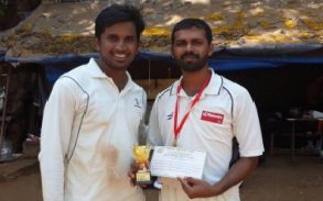Deepesh's gutsy 64 and good bowling by Mahindra help them win over HAV Solutions in the Milan T20 Tournament