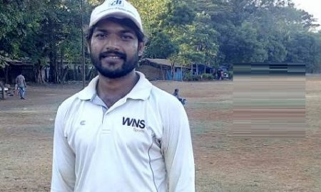 Dnysansagar Patil scores a dominating 75(57) vs Glenmark in the JD white Ball Corporate Trophy 2016-17