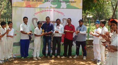 Naman Hiren takes a hat-trick while Soham takes a four-fer to deflate BSMS school in the Singhania U-16 Tournament