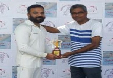 Parikshit Tripathy scores a thunderous 22ball 52 to steer Reliance Gen. to a victory in the Samata Friendship Trophy