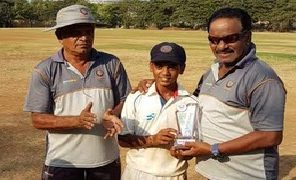 Left-arm spinner Tejas Rajput from DVCA impresses with the ball in the U-13 IDBI Federal Cup