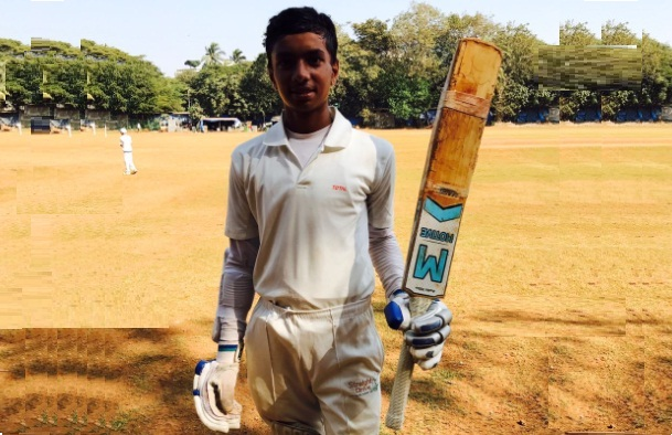 Ayush Jethwa stamps his authority again: scores 116 and scalps 3wkts against Vengsarkar's XI in the U-14 Total Cup