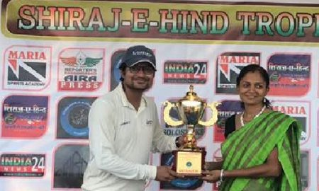 In-form Omkar Maldikar takes a fifer in the finals vs Tech Mahindra Business in the Chanawala Challenger T20 Tournament