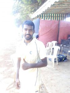 Saddam Mainoddin Mulani Parsee Gymkhana Team over 3 runs 9 wkts 3