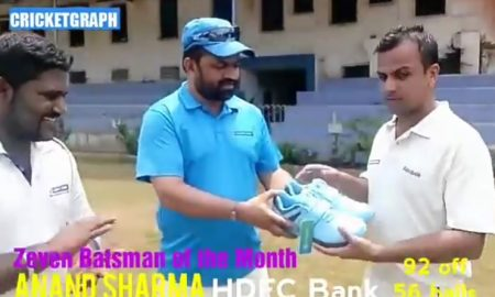 Zevens Batsman of the month - Anand Sharma HDFC Bank
